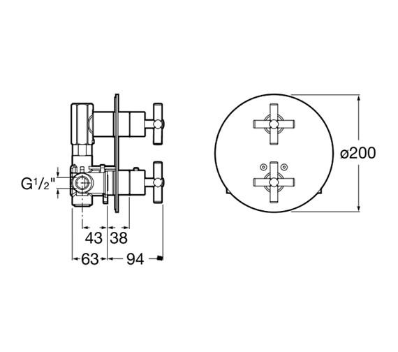 Technical drawing QS-V60116 / 5A0743C00