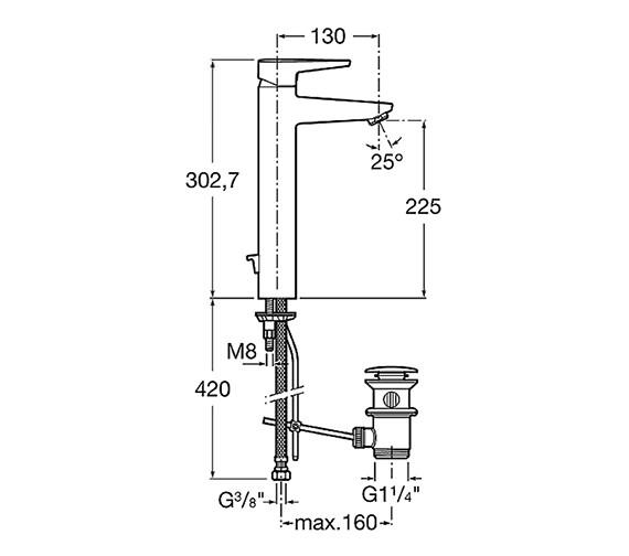Technical drawing QS-V60151 / 5A3431C00