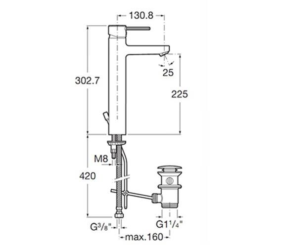 Technical drawing QS-V60172 / 5A3460C00