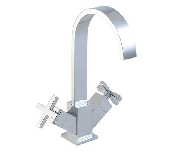 Phoenix Square Twin Cross Head Control Kitchen Sink Mixer Tap - KT002
