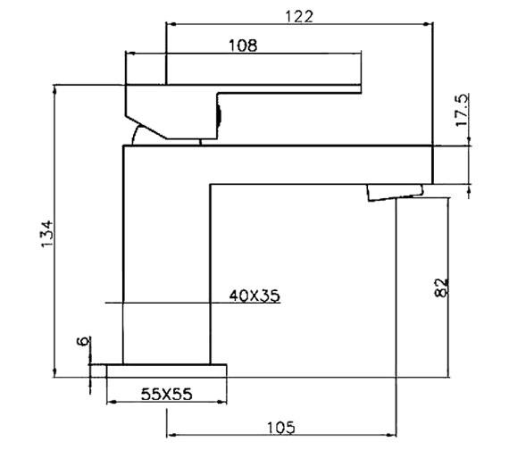Technical drawing QS-V60575 / CU004