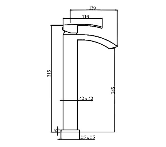Technical drawing QS-V60594 / AF005