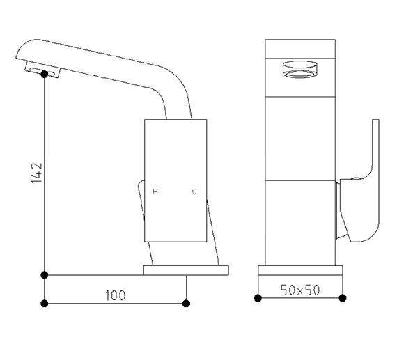 Technical drawing QS-V60619 / RW009