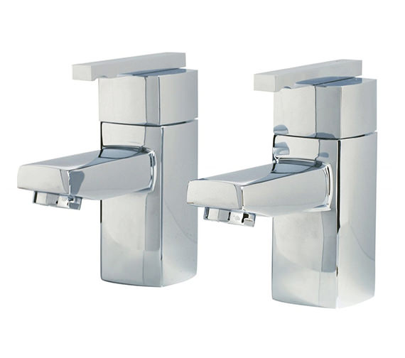 Phoenix SQ Series Pair Of Bath Tap Chrome - SQ003