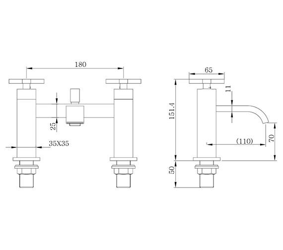 Technical drawing QS-V60676 / DC019