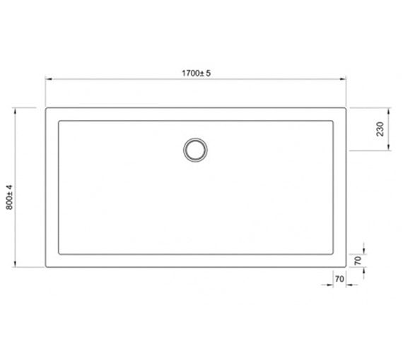Additional image of Simpsons Walk-In 35mm Acrylic Shower Tray