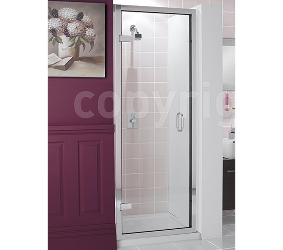 Simpsons Classic Frame-less Hinged Shower Door 700 x 1950mm