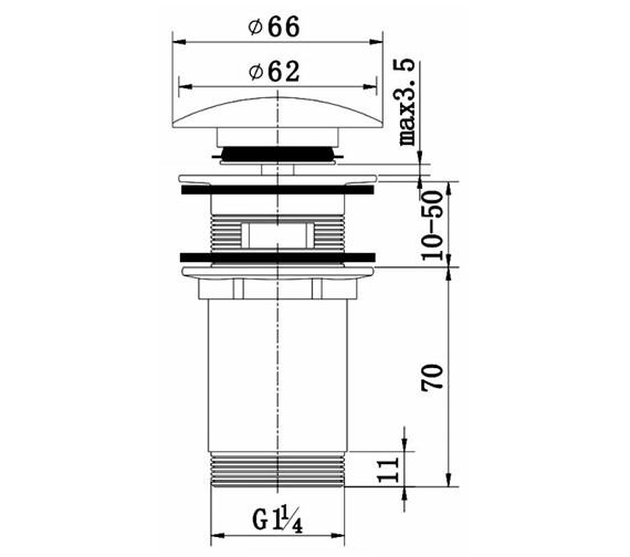 Technical drawing QS-V60870 / THC12