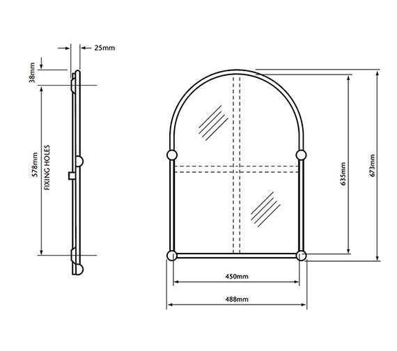 Technical drawing QS-V60899 / AHA09