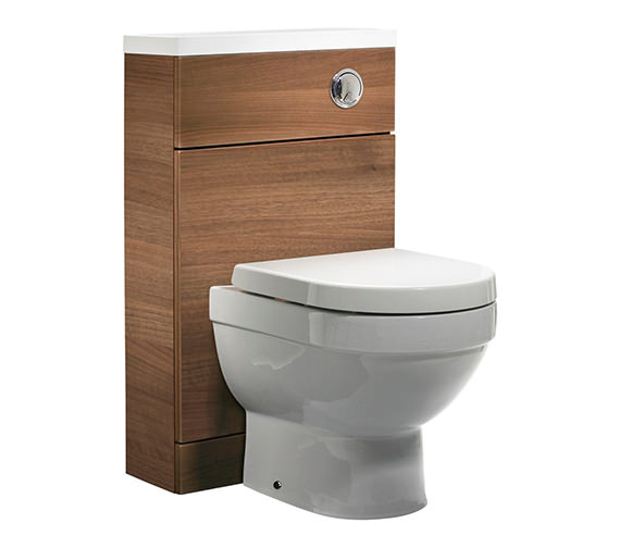 Tavistock Kobe 500mm Walnut Back To Wall WC Unit And Worktop