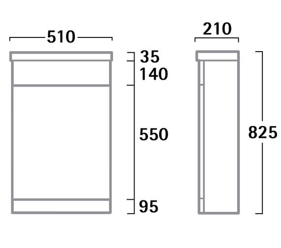 Technical drawing QS-V61182 / K5BTWBK