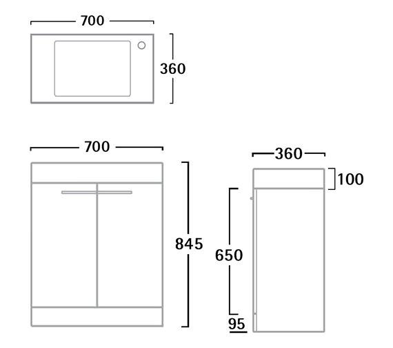 Technical drawing QS-V61185 / K70FAW