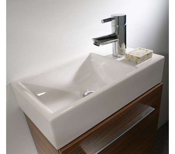 Additional image of Tavistock Kobe 450mm Walnut Wall Mounted Unit With Basin - KWM45AW