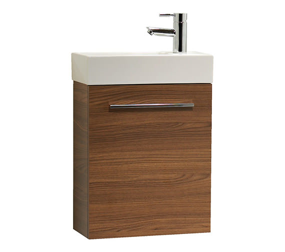 Tavistock Kobe 450mm Walnut Wall Mounted Unit With Basin - KWM45AW