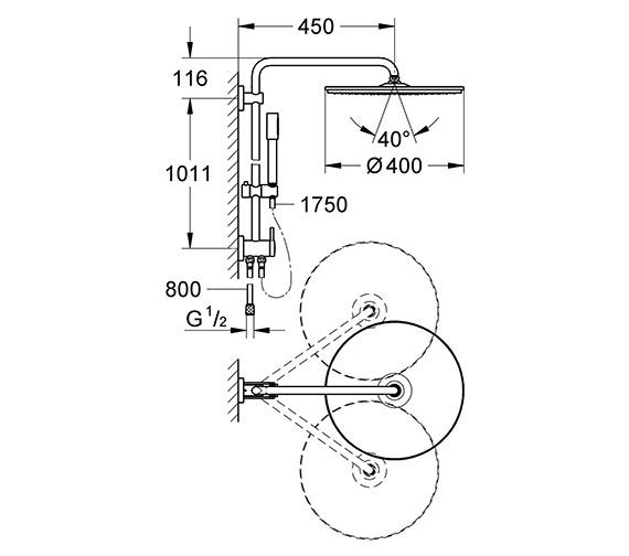 Technical drawing QS-V61256 / 27175000