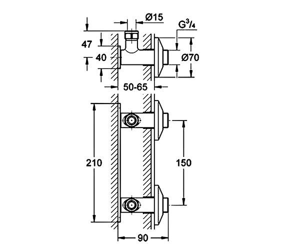 Technical drawing QS-V61263 / 18153000