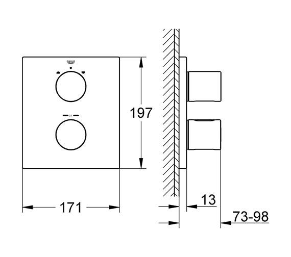 Technical drawing QS-V61283 / 19567000