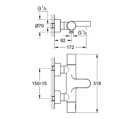 Technical drawing QS-V61285 / 34276000