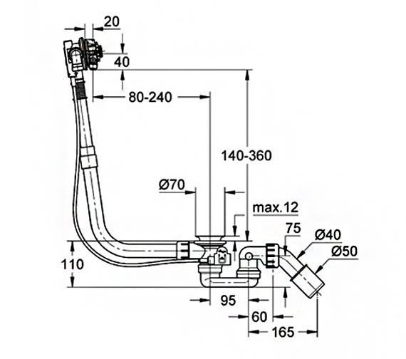 Technical drawing QS-V61307 / 28990000