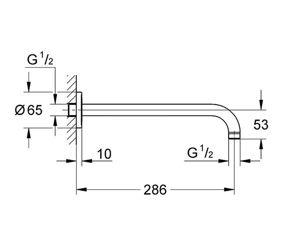 Technical drawing QS-V61315 / 28576000