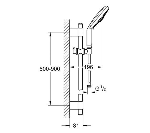 Technical drawing QS-V61326 / 28763001