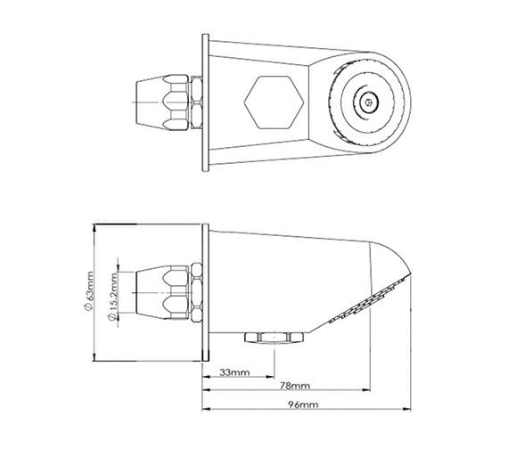 Technical drawing QS-V61333 / A3557