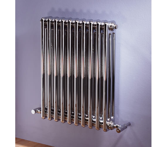 MHS Multisec Chrome Radiator 360 x 592mm With 3 Column - 8 Section