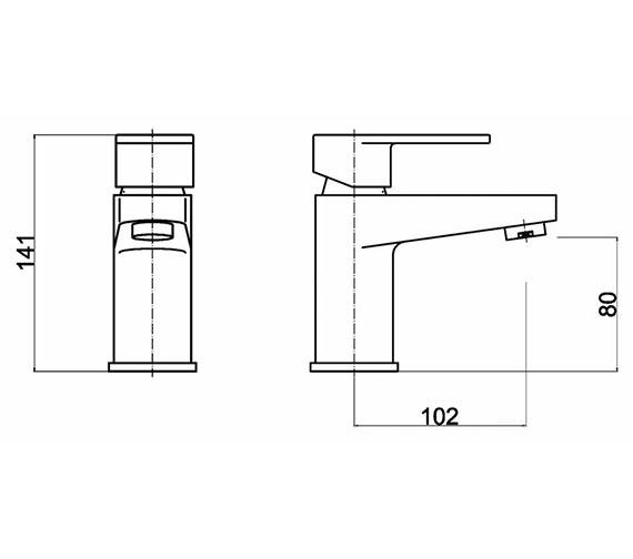 Technical drawing QS-V61432 / RAT325