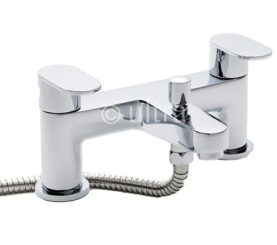 Ultra Ratio Deck Mounted Bath Shower Mixer Tap With Kit - RAT314