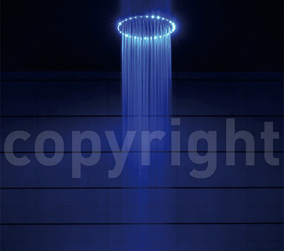 Additional image of Crosswater Rio Spectrum Shower Head 400mm With Lights And Ceiling Arm
