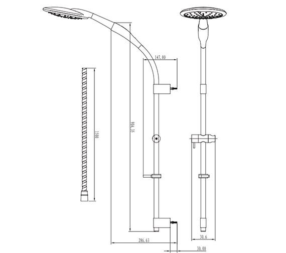Technical drawing QS-V61598 / SK818C
