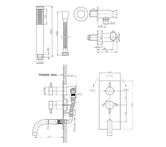 Technical drawing QS-V61603 / KL1600RC