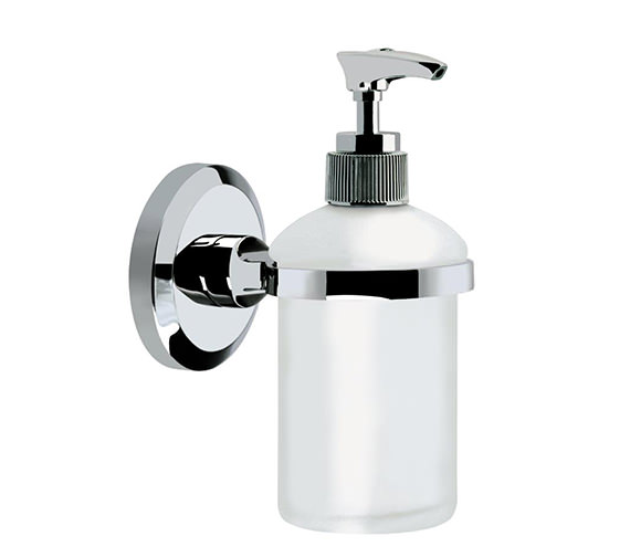 Bristan Solo Frosted Glass Soap Dispenser Chrome Plated - SO SOAP C