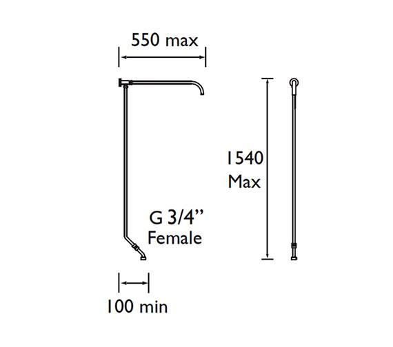 Technical drawing QS-V61696 / N RISE C
