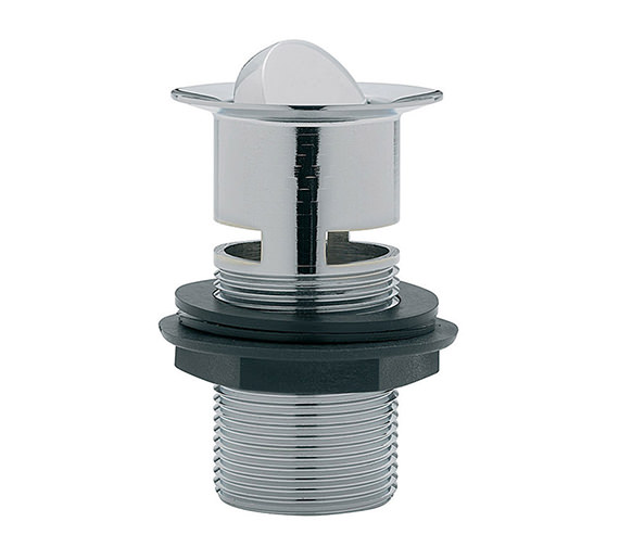 Tre Mercati Slotted Flip Plug Basin Waste With Solid Plug Chrome