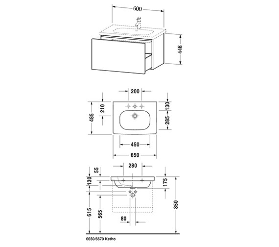 Technical drawing QS-V10763 / DL623400303