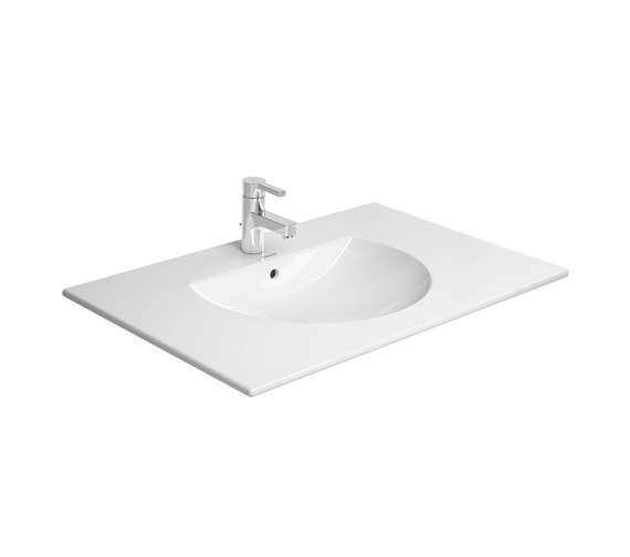 Additional image of Duravit Delos 800 x 541mm White Matt 2 Drawers Vanity Unit With Basin