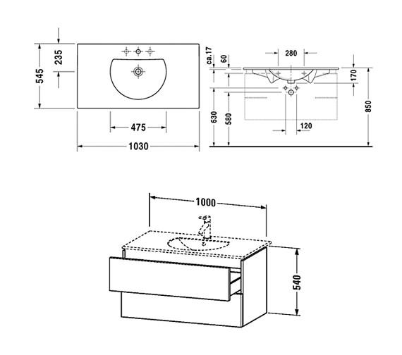 Technical drawing QS-V10814 / DL633300303