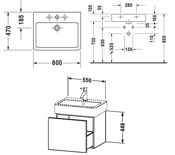 Technical drawing QS-V6415 / DL622400303