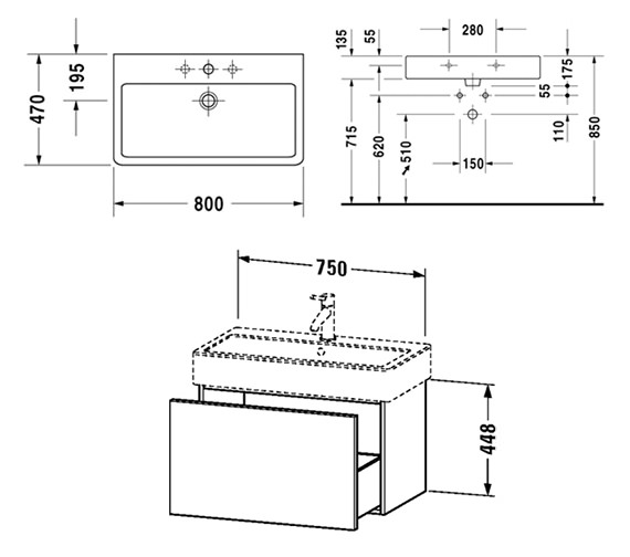 Technical drawing QS-V61832 / DL622601818