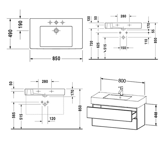 Technical drawing QS-V10750 / DL632002222