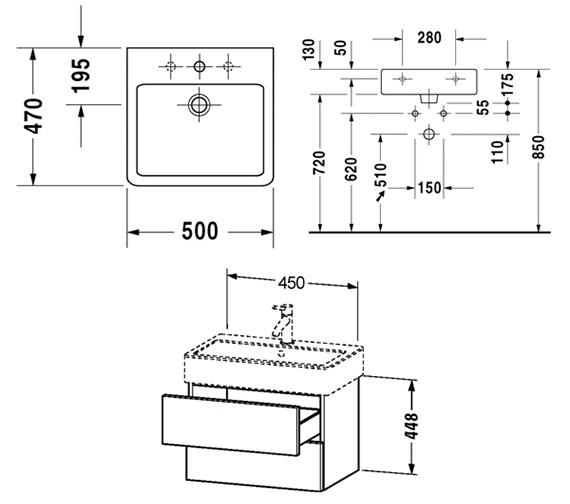 Technical drawing QS-V6430 / DL632301212