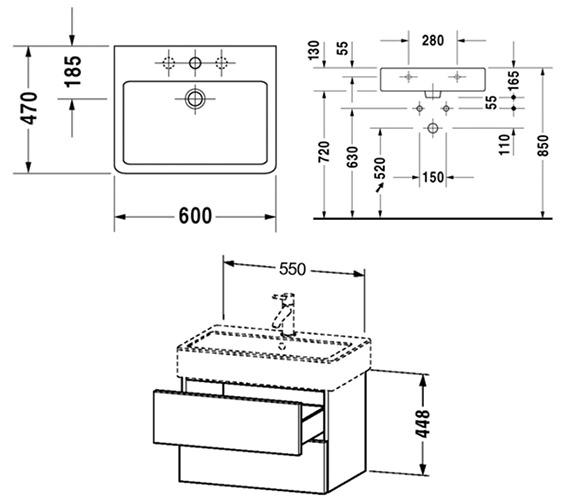 Technical drawing QS-V6434 / DL632400303