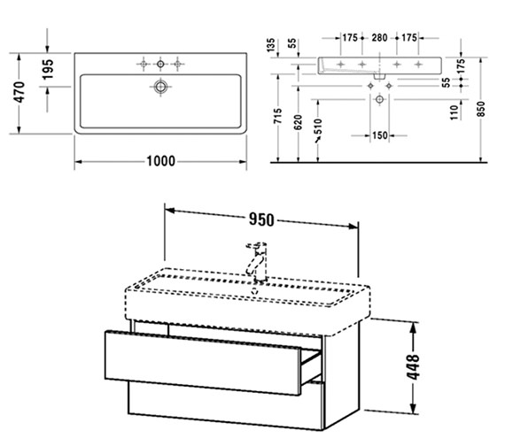 Technical drawing QS-V6441 / DL632700303