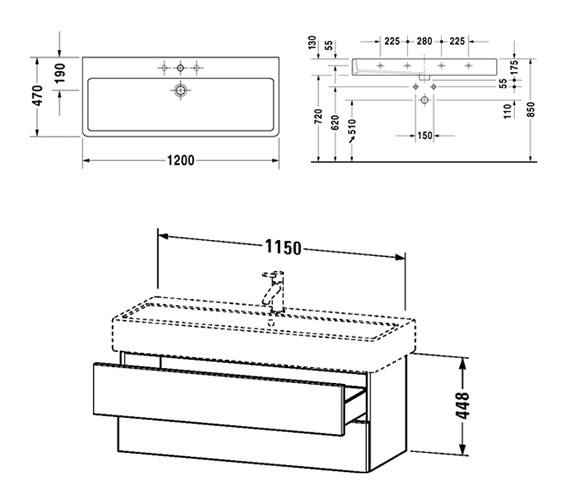 Technical drawing QS-V6444 / DL632800303