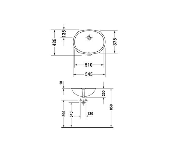 Technical drawing QS-V61857 / 0466510022