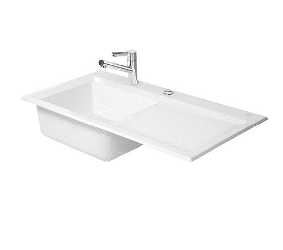 Flush Kitchen Sink : ... kitchens 1 bowl sink duravit kiora 50 flush mount kitchen sink