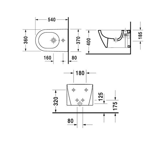 Technical drawing QS-V61925 / 2271150000