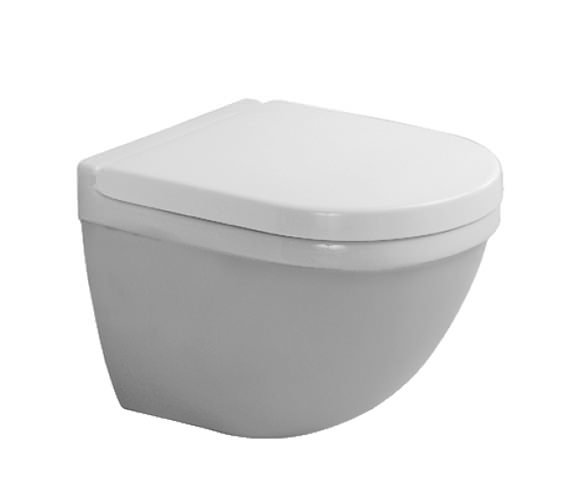 Duravit Starck 3 Wall Hung 360mm Toilet With Durafix - 2227090000