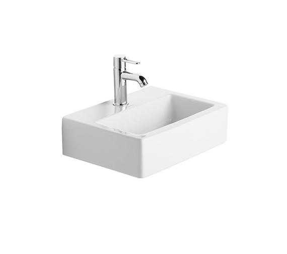 Duravit Vero White 450mm 1 Tap Hole Handrinse Washbasin Med - 0704450041